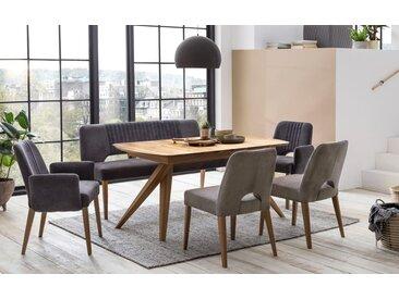 Stuhlgruppe Toulan / Anor XL in Eiche rustik geölt