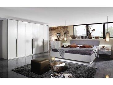 Schlafzimmer 4071 in alpinweiß/seidengrau, mit Bettschubkasten