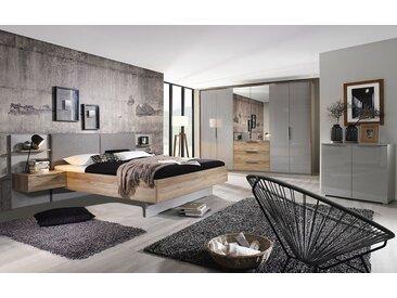 Schlafzimmer 4037 seidengrau/Eiche Sanremo hell Optik, ohne Bettschubkasten