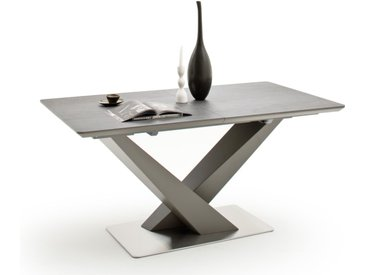 Säulentisch 3036 in Keramik, mit ausziehbarer Tischplatte aus Keramik