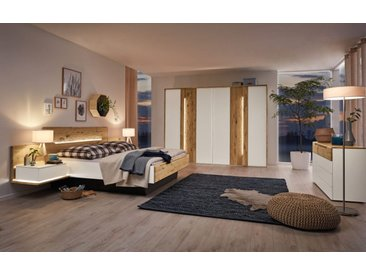 Schlafzimmer Jovanna in Wildeiche massiv/Lack weiß
