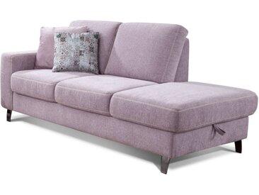 Recamiere 2-Sitzer 2020 in rose,  inklusive Bettkasten