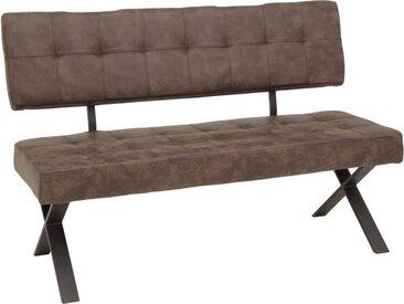 Sitzbank mit Rückenlehne Donna I B in braun