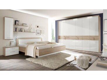 Schlafzimmer Luna in weiß/Eiche Macao-Optik
