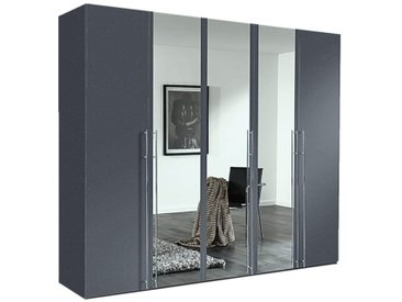 Drehtürenkleiderschrank Brooklyn in graphit