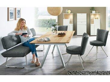 Bank-/Stuhlgruppe Impuls in anthrazit/Eiche furniert