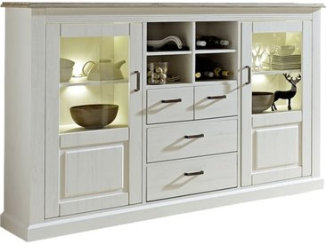 Highboard Lima in Pinie hell/Absetzung in taupe