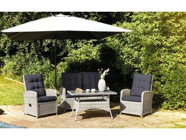 Garten-Lounge-Set Monaco in Geflecht Polyratten natur-mix