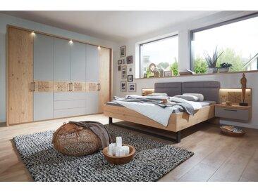 Schlafzimmer 4021 in Balkeneiche/Lack taupe, Schrank mit Schubkästen