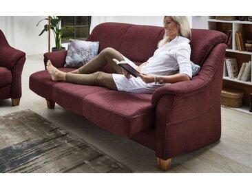 Sofa Bristoll in bordeaux, 3-sitzig