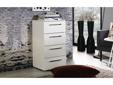Schubladenkommode 4041 in hochglanz weiß, 40 x 81 cm