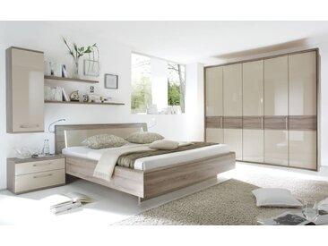 Schlafzimmer Luna in sahara/Eiche-Havanna-Optik