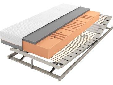 Matratzenset Geltex Starline X7, Härtegrad 3, Lattenrost ComFEEL 40 Plus KF