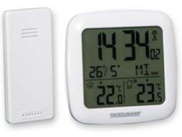 Fackelmann Christian Häckl präsentiert Digital Thermometer mit Funkuhr, 2-teilig