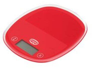 Dr. Oetker Küchenwaage digital mit Sensortaste, rot