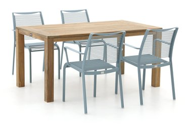 Apple Bee Hawaii/ROUGH-S 160 cm Esstischgruppe 5-teilig stapelbar