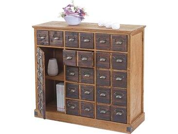 Apothekerkommode HWC-F33, Schubladenschrank, Tanne Holz massiv Vintage 90x100x35cm