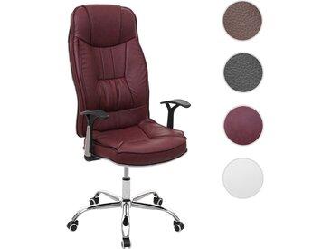 Bürostuhl HWC-F14, Schreibtischstuhl Chefsessel Drehstuhl, 150kg belastbar Kunstleder