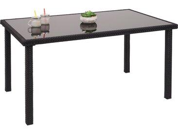 Poly-Rattan Tisch HWC-G19, Gartentisch Balkontisch, 120x75cm