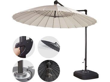 Ampelschirm MCW-A34, Sonnenschirm mit Ständer/Schutzhülle, drehbar rollbar Ø 2,8m Polyester Alu/Stahl 25kg