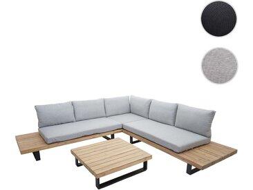 Garten-Garnitur HWC-H54, Garnitur Sitzgruppe Lounge-Set Sofa, Spun Poly Akazie Holz