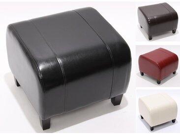 Hocker Sitzwürfel Sitzhocker Emmen, Leder + Kunstleder, 37x45x47 cm