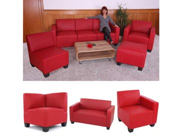 Modular Sofa-System Lyon, Kunstleder rot
