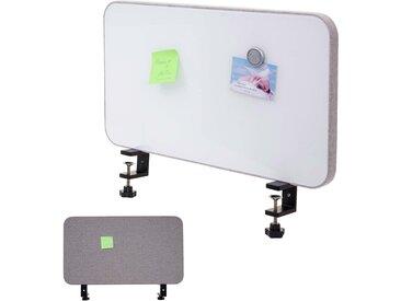 Tisch-Whiteboard HWC-G74, Büro-Sichtschutz Trennwand Schreibtisch Magnettafel Pinnwand, Stoff/Textil