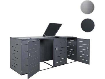 4er-Mülltonnenverkleidung HWC-E83, Mülltonnenbox Mülltonnenabdeckung, erweiterbar 108x61x76cm