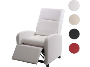 Fernsehsessel HWC-H18, Relaxsessel Liege Sessel, Kunstleder klappbar 99x70x75cm