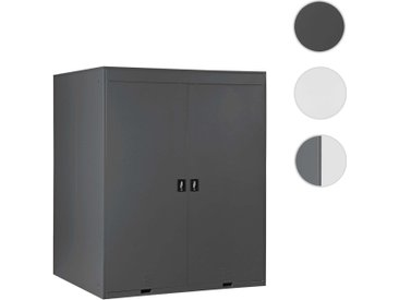 2er-Fahrradgarage HWC-H66, Fahrradbox Gerätehaus Fahrradunterstand, abschließbar Metall