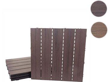 WPC Bodenfliese HWC-E20, Holzoptik Balkon/Terrasse, 3D-Struktur linear