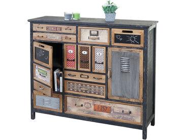 Apotheker-Schrank HWC-A43, Kommode, Tanne Holz massiv Vintage Shabby-Look