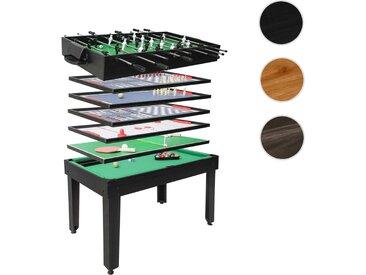Tischkicker HWC-J15, Tischfußball Billard Hockey 7in1 Multiplayer Spieletisch, MDF 82x107x60cm