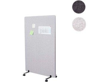 Akustik-Trennwand HWC-G77, Büro-Sichtschutz Raumteiler Pinnwand, doppelwandig rollbar Stoff/Textil