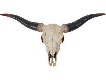 Deko Schädel 75cm HWC-A14, Polyresin Stier Bulle Longhorn Kopf Trophäe, In-/Outdoor natur