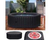 Whirlpool HWC-E32, 2 Personen In-/Outdoor heizbar aufblasbar inkl. Tisch 190x120cm FI-Schalter