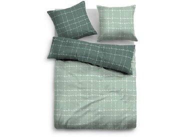 Tom Tailor Satin Bettwäsche 155 x 220 cm 100/% Baumwolle neu mit Reißverschluss