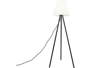 Design Moderne Außenlampe schwarz mit weißem Schirm IP65 -