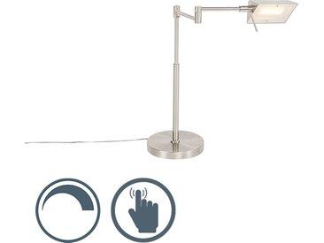 Modern Design Tischleuchte Stahl inkl. LED mit Touch Dimmer -