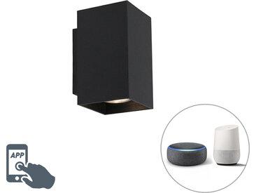 Modern Moderne Smart Wandleuchte schwarz inkl. 2 WiFi GU10 -