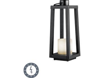 Modern Tischleuchte schwarz mit Flammeneffekt inkl. LED