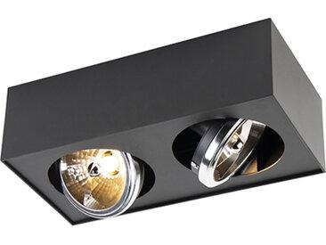 Modern Design Spot Square 2-flammig inkl. G9 schwarz - Kaya G9