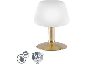 Modern Tischleuchte Gold mit 3-Stufen-Touch-Dimmer inkl. LED -