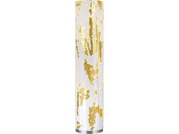 Art Deco Stehlampe weiß mit Gold - Lawa E27