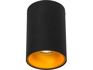Design,Modern Aufbaustrahler schwarz mit Gold - Deep GU10