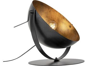 Modern Industrielle Tischlampe schwarz mit Gold einstellbar -