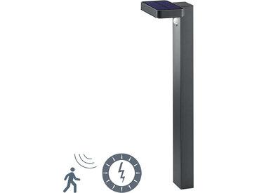 Modern Stehende Außenlampe Anthrazit mit Bewegungssensor auf