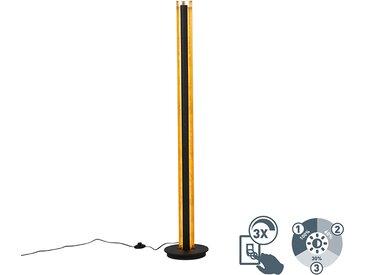 Modern Stehlampe schwarz mit Gold inkl. LED dimmbar 3 Stufen -
