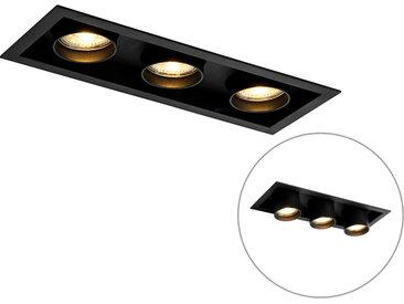 Modern Moderne Einbauleuchte schwarz verstellbar 3-Licht - Dach